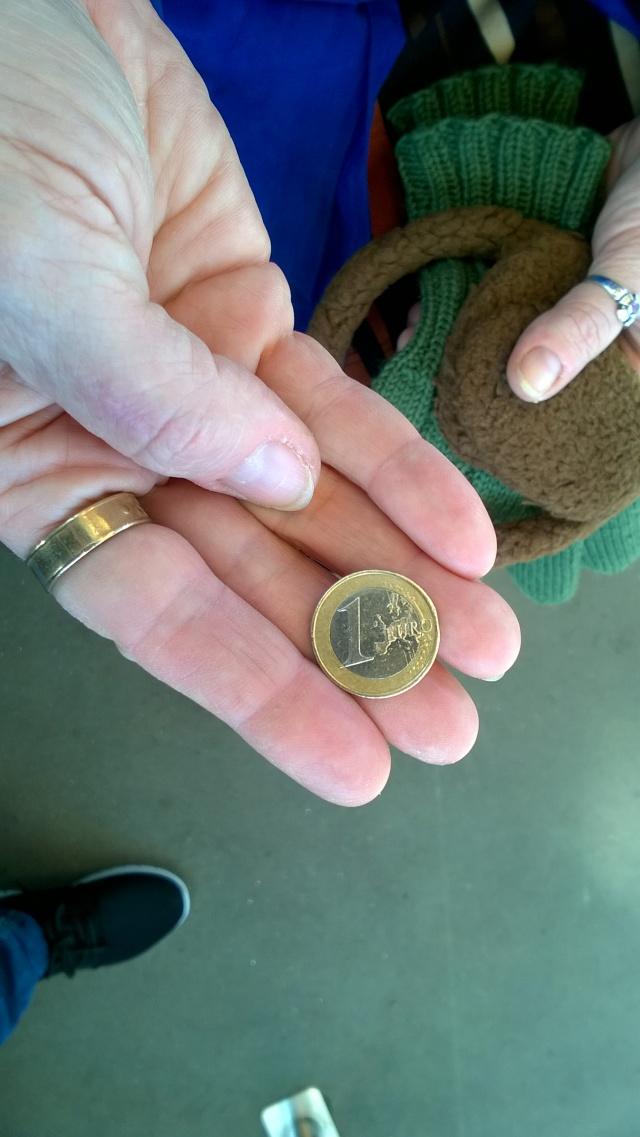 Euro kämmenellä